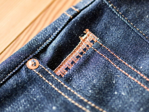 C.T.L STRAIGHT DENIM PANTS-BENGARA(INDIAN RED) / DARK INDIGO
