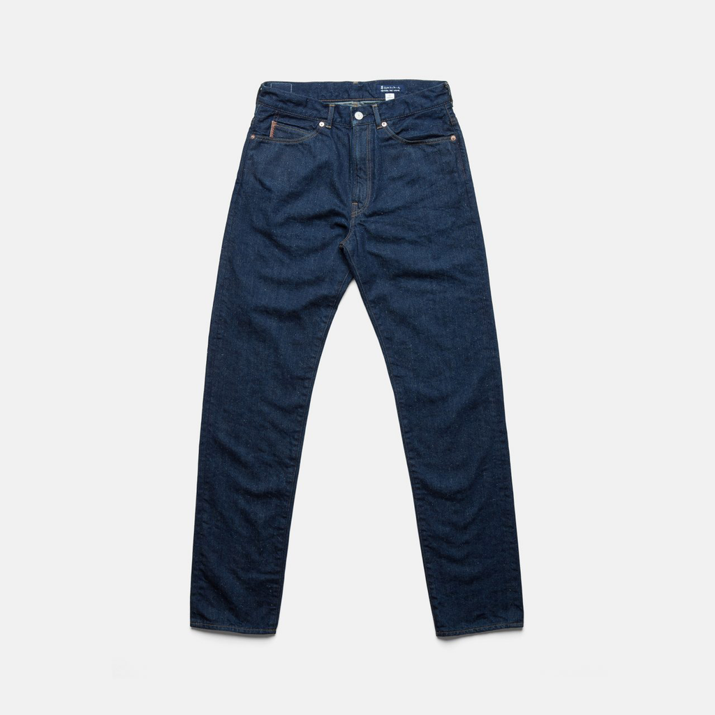 C.T.L SLIM STRAIGHT DENIM PANTS-BENGARA (INDIAN RED)/WASHED INDIGO