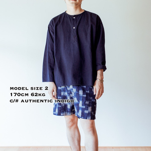 SLEEP WHISPERING SEA COTTON SHIRTーASAGI INDIGO