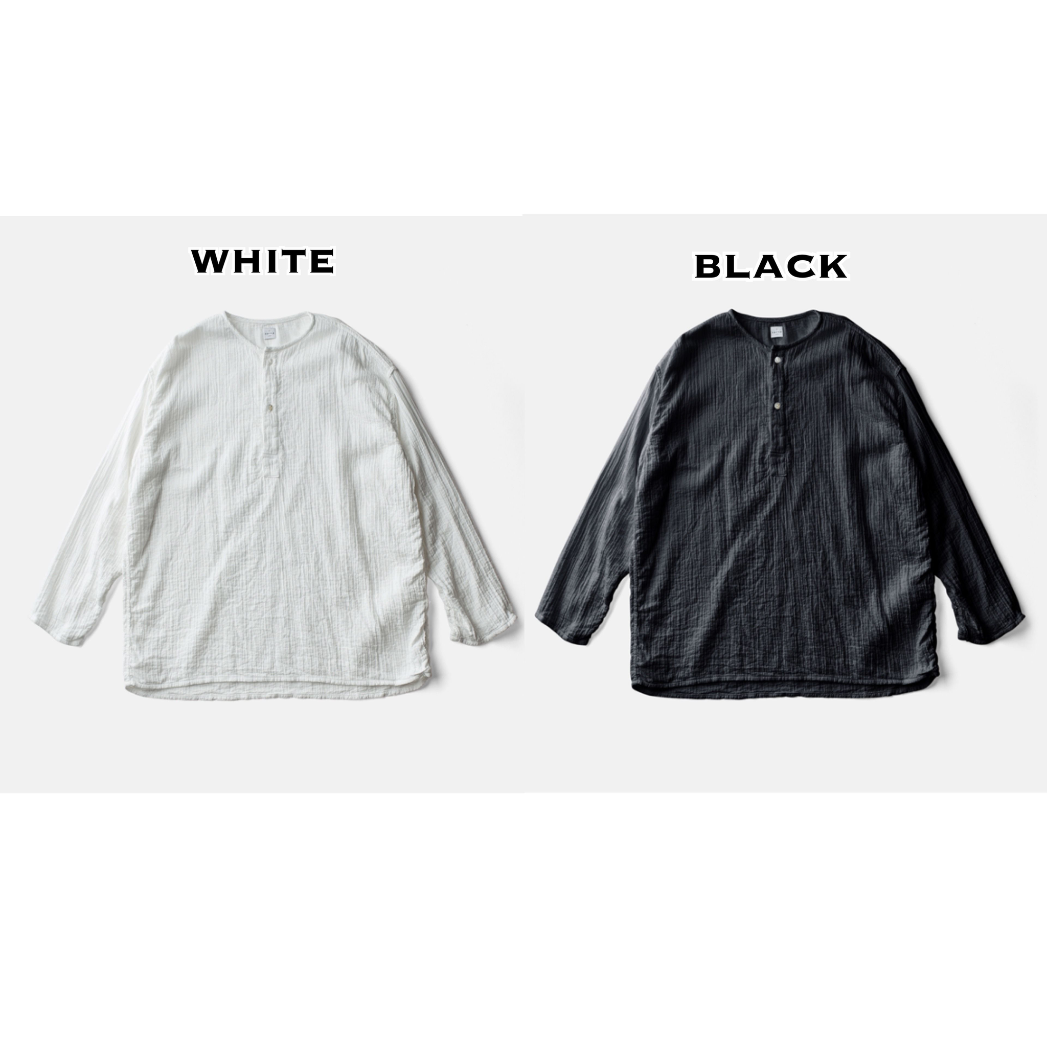 SLEEP WHISPERING SEA COTTON SHIRTーBLACK