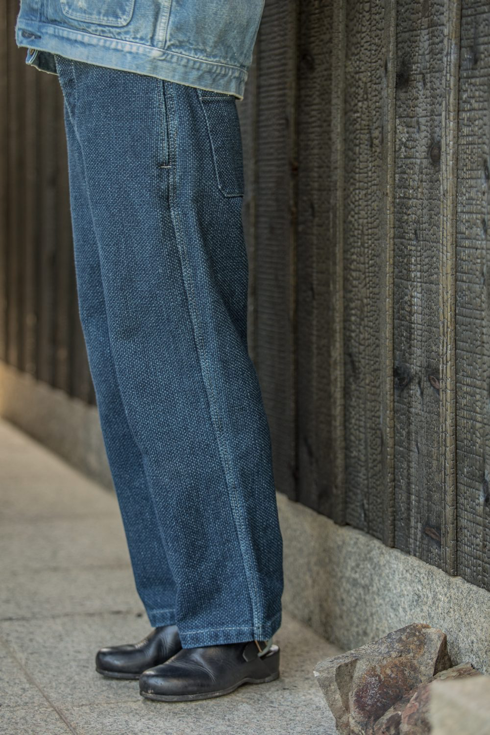 MOTHER SASHIKO PANTS- INDIGO