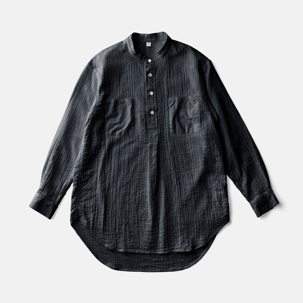 ZEN WHISPERING SEA COTTON SHIRTーBLACK