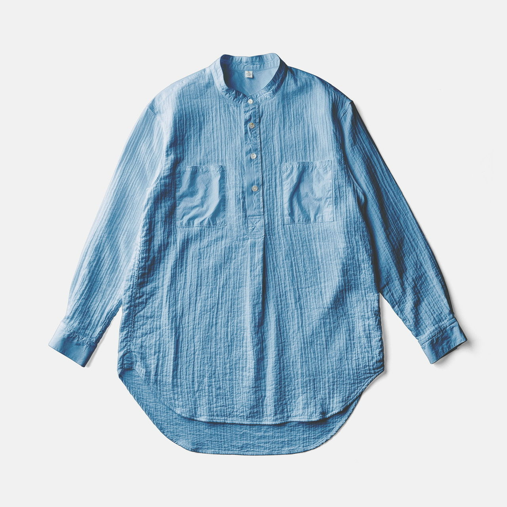 ZEN WHISPERING SEA COTTON SHIRTーASAGI INDIGO