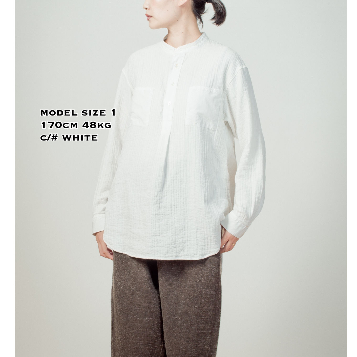 ZEN WHISPERING SEA COTTON SHIRTーWHITE