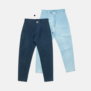 MOLESKIN COTTLE PANTS-AUTHENTIC INDIGO