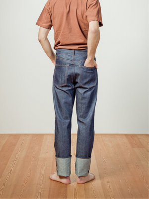 C.T.L STRAIGHT DENIM PANTS-BENGARA(INDIAN RED) / SOLID RIGID(NON WASH)