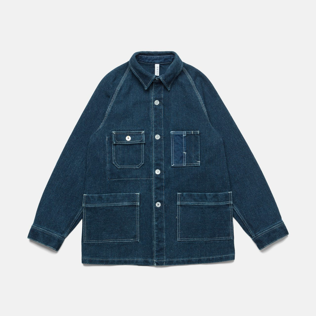 MOTHER SASHIKO TRAVELING JACKET-INDIGO