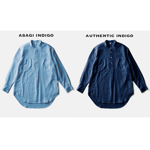 ZEN WHISPERING SEA COTTON SHIRTーAUTHENTIC INDIGO