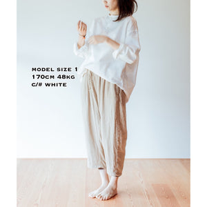 SLEEP WHISPERING SEA COTTON SHIRTーWHITE