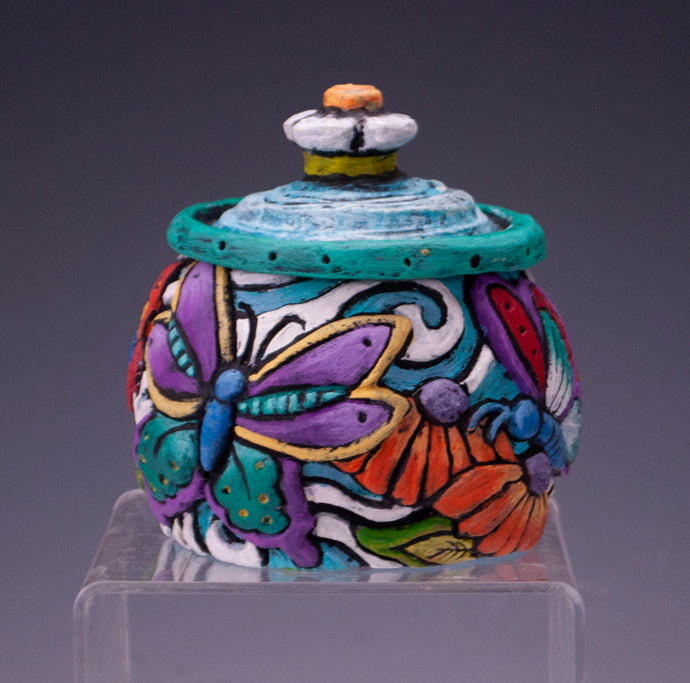 Brightly-Colored Butterfly Jar