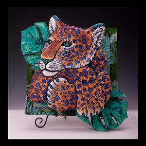 Bright Leopard on panel