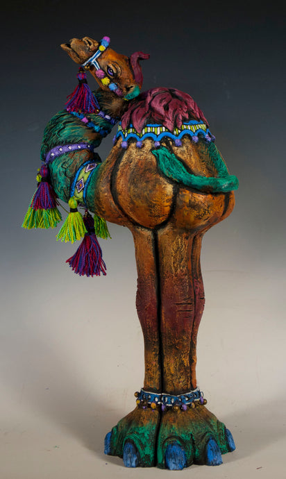 Tall Camel Sculpture