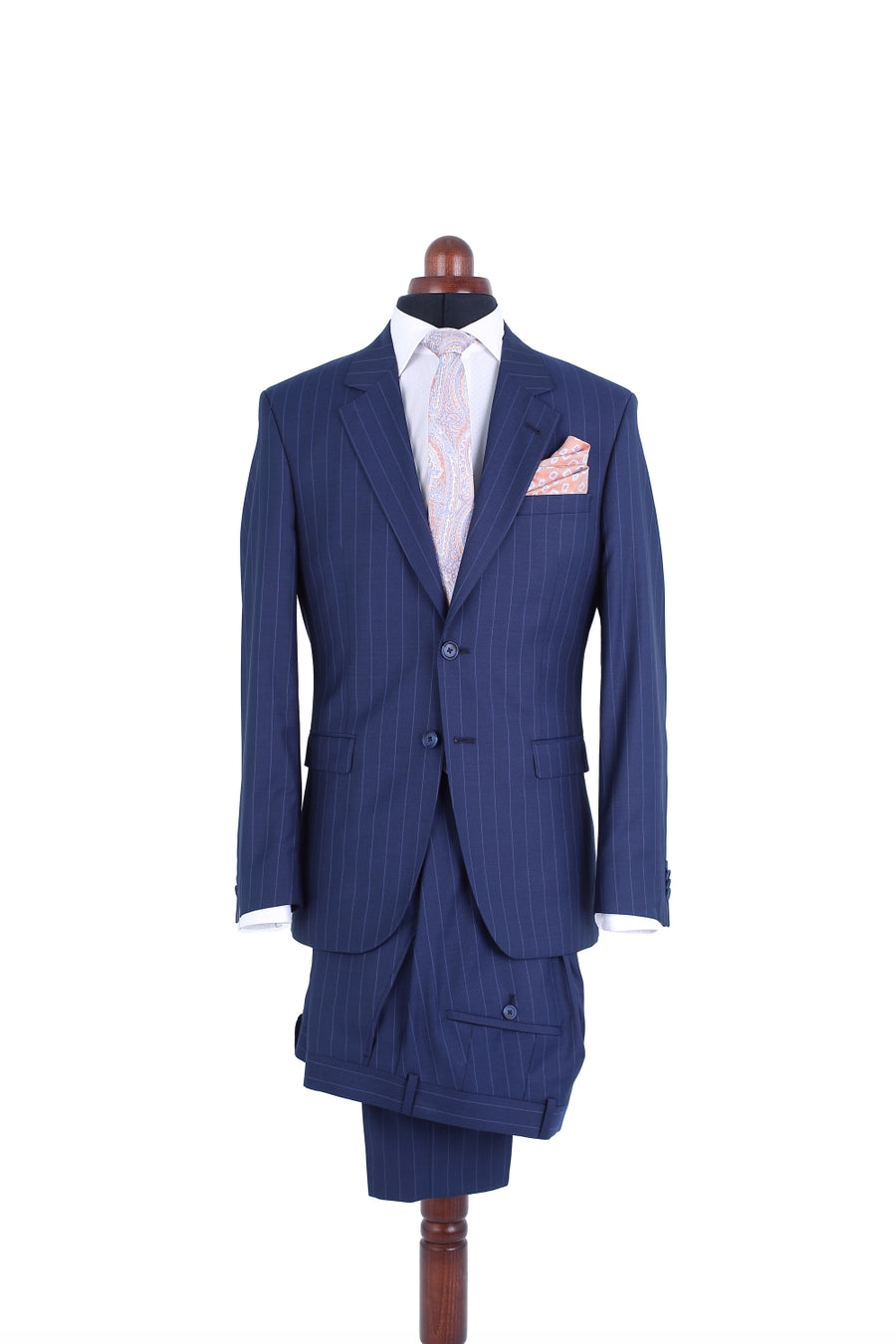 BLUE PIN STRIPED SUIT