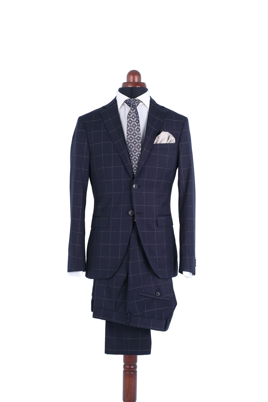 DARK BLUE SUBTLE WINDOWPANE SUIT