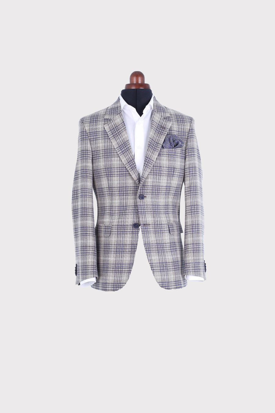 MILES BEIGE CHECK JACKET