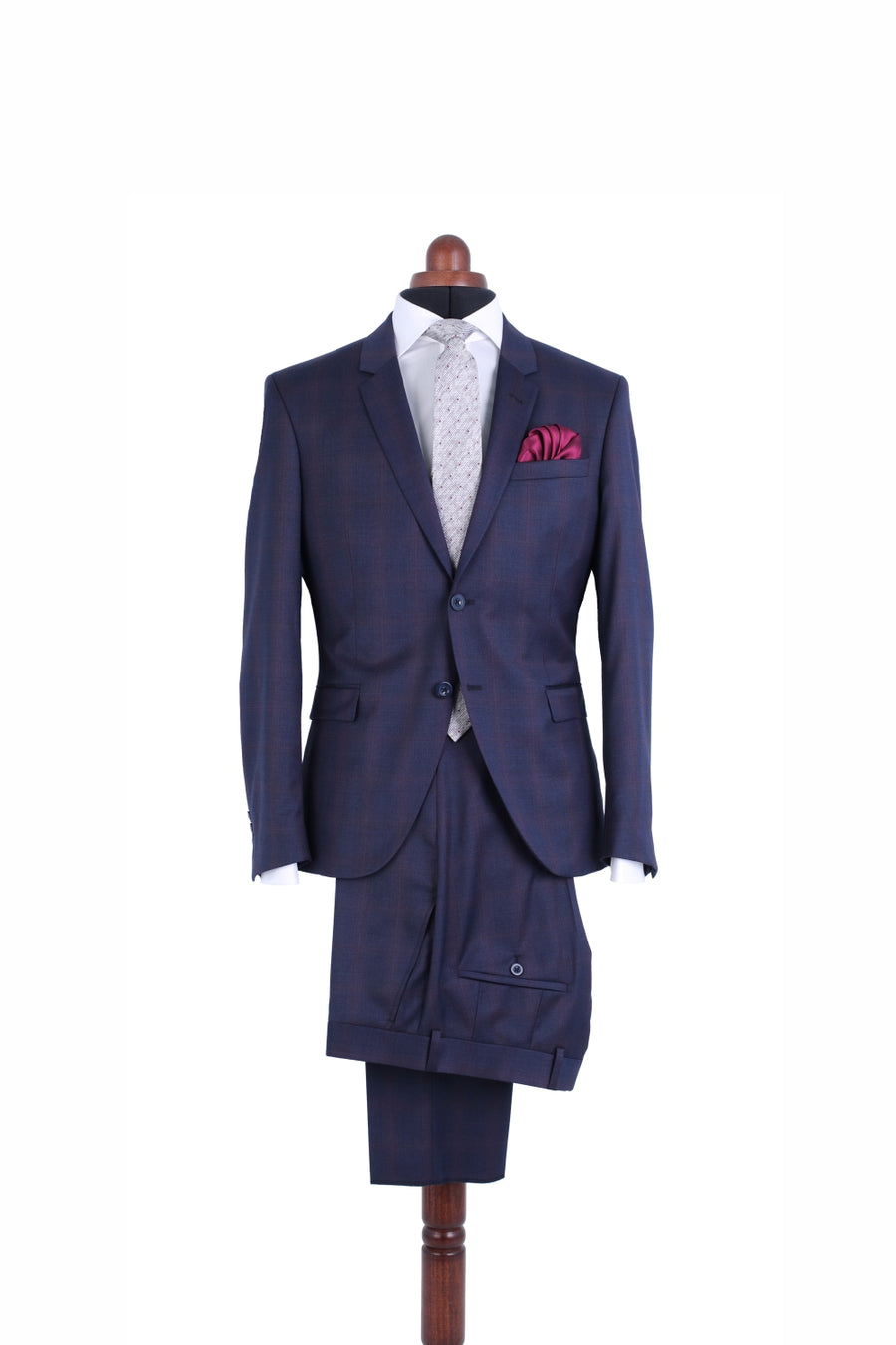 BLUE-RED CHECK SUIT