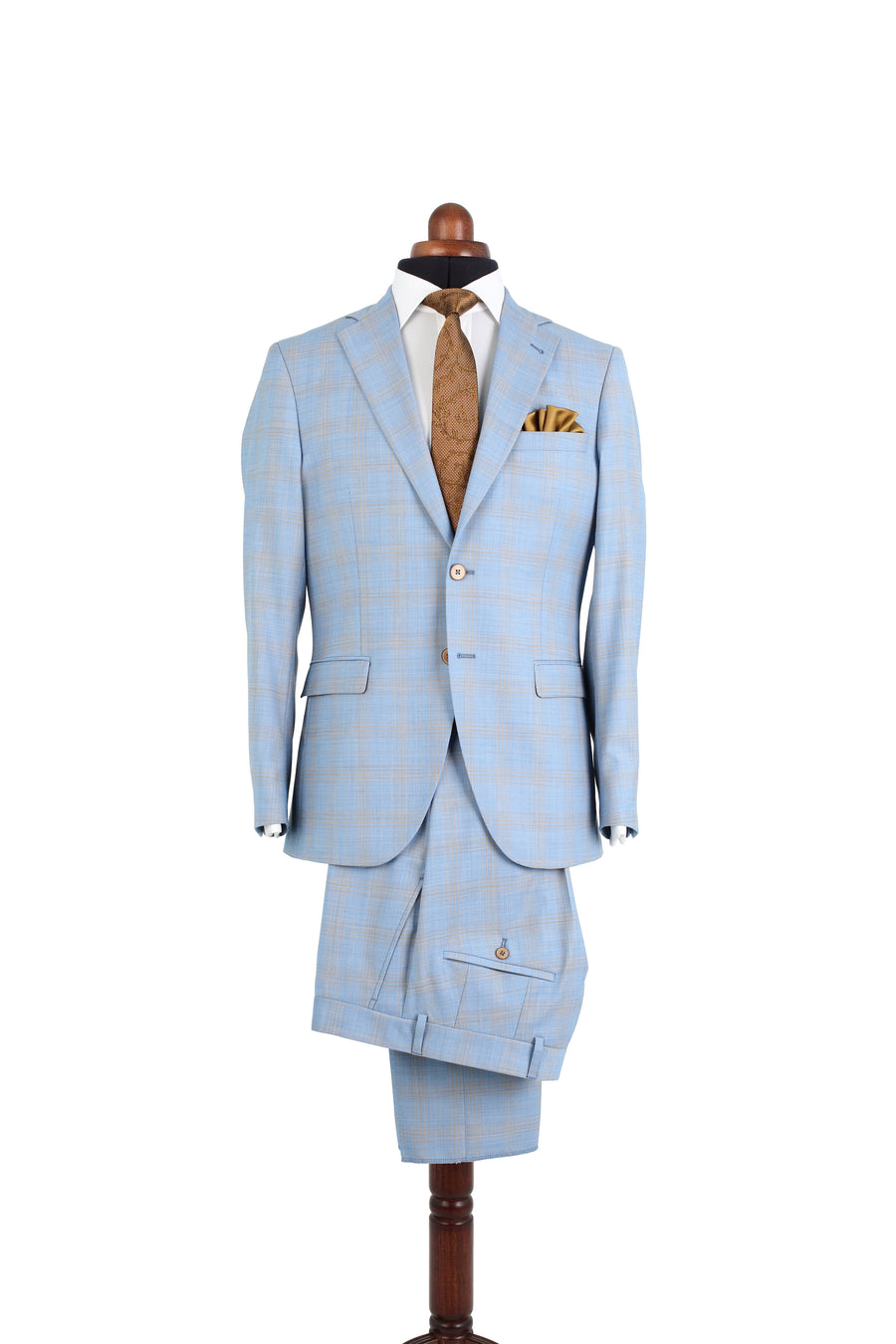 SUMMER BLUE PLAID SUIT