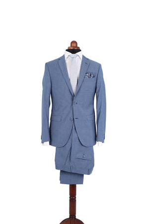 CRISP LIGHT BLUE SUIT