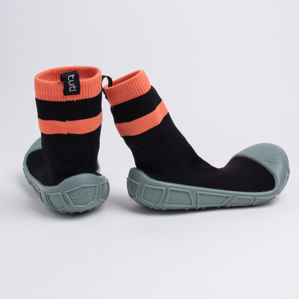 socks in a shell for kids in black