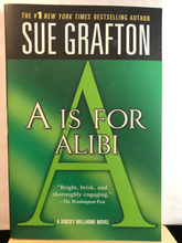 Load image into Gallery viewer, A is for Alibi    by Sue Grafton     (Kinsey Millhone #1)    Paperback