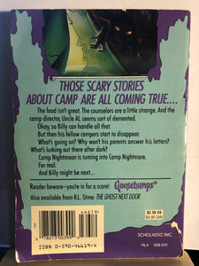 Welcome to Camp Nightmare   by R.L. Stine   (Goosebumps #9)