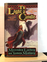 Load image into Gallery viewer, To Light A Candle  by Mercedes Lackey & James Mallory   (Obsidian Mountain #2)    Used paperback