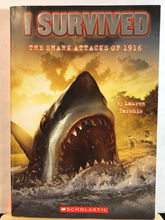 Load image into Gallery viewer, I Survived the Shark Attacks of 1916    by Lauren Tarshis    (I Survived #2)    Used paperback