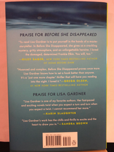 Load image into Gallery viewer, Before She Disappeared     by Lisa Gardner   new hardcover