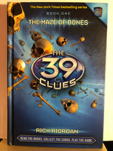 Load image into Gallery viewer, The Maze of Bones    by Rick Riordan    (The 39 Clues #1)  Hardcover