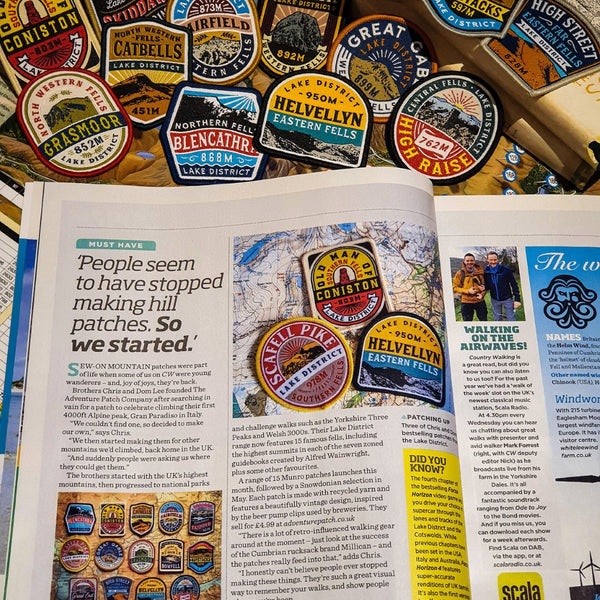 Lake District Fells hiking patches - as featured in Country Walking Magazine!