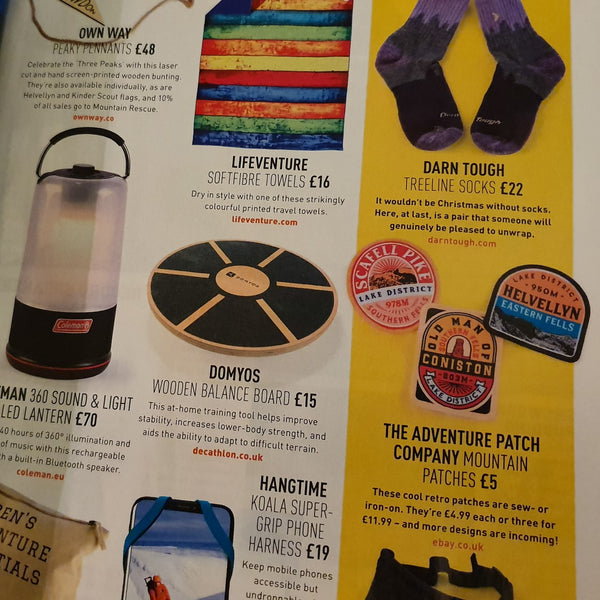 New Lake District Fells Patches - as featured in Trail Magazine!