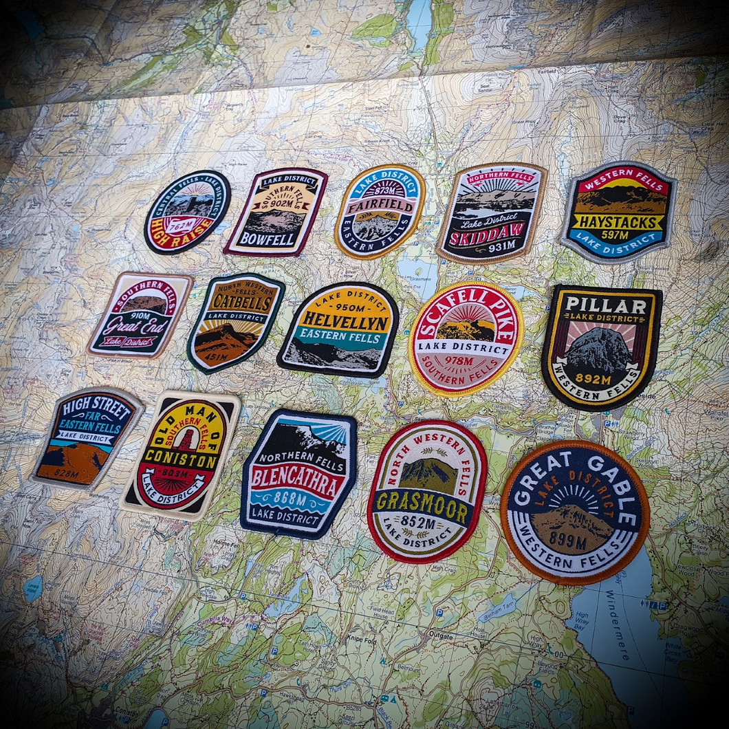 Lake District Fells patches (set of 15) - £25 off bundle deal!