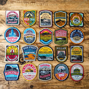 Lake District Fells patches (set of 20) - £35 off bundle deal!