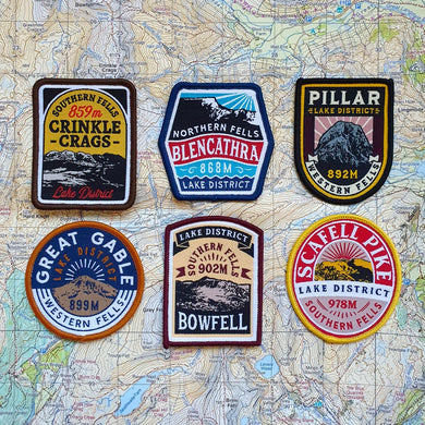 Wainwright's 'finest half dozen' Lake District Fells (set of 6 patches)