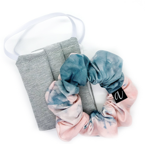 Neutral Scrunchie & Mask Set