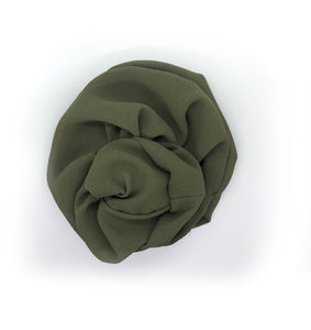Olive Chiffon Dinner Scrunchie