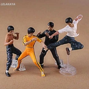 8cm 4pcs/set Movie Video Game Bruce Lee King of Kung Fu Master Fighting PVC Anime Action Figure Model Collectible Cool Toys New