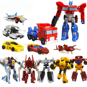 Boys Toys Transformation Robot Vehicle Car Toys Action Figures Toys Plastics Mini Cars Robot Toy For Children Kids Birthday Gift