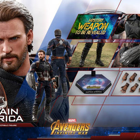 HT Hottoys Marvel Avengers 3 Captain America 30cm Action Figure Anime Mini Decoration PVC Collection Figure Toy model Collector