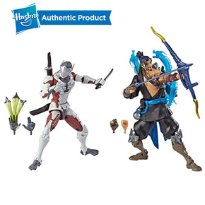 Hasbro Overwatch Ultimates Series Hanzo and Genji Dual Pack 6-Inch-Scale Collectible Action Figures with  Video Game Characters