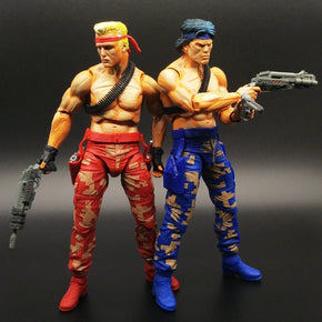 Hot Sale Contra 7 Figures - Bill And Lance 2-Pack Video Game Appearance by Contra