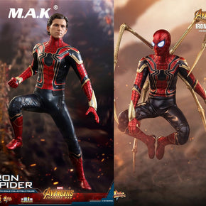 Hot Toys MMS482 Collectible 1/6 War Figure Collection Avengers 3 Infinite War Iron Spiderman Toy Model for Fans Gifts