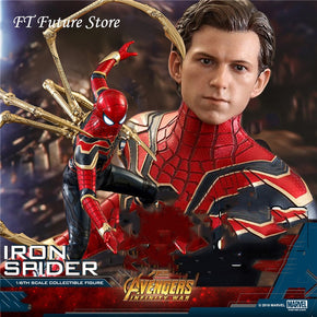 In Stock 1/6 Hot Toys MMS482 Avengers 3 Infinite War Iron Spiderman Full Set Action Figure Doll for Fans Gifts
