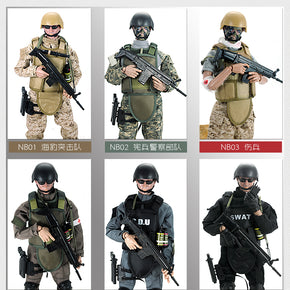 PATTIZ 1/6 12'' SWAT Action Figure Model toys Military Army Combat Game Toys boys birthday Free shipping