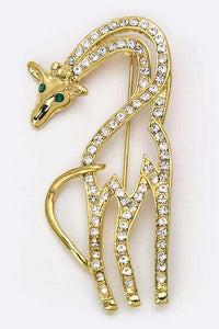 Gold Safari Crystal Giraffe