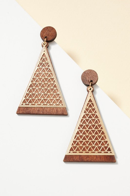All Around Earrings Brown & Gold