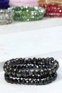 Stretch Shimmer Bracelet/Black