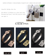 HEART LOCK BRACELET & KEY NECKLACE (Couple)+ Exquisite gift box