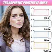 Face Maks Adult Transparent Mask With Clear Window Windproof Mask