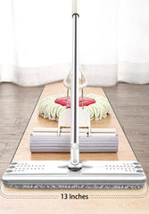 Automatic cleaning flat mop combination